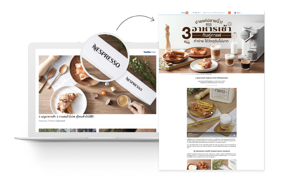 Nespresso Thailand Distributes Advertorials to Increase Brand Awareness with Taboola