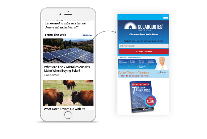 Taboola Helps SolarQuotes Diversify Digital Channels
