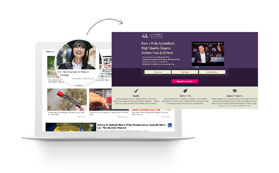 Going Full-funnel: UoPeople Combines Earned Media and Program Pages to Drive Leads