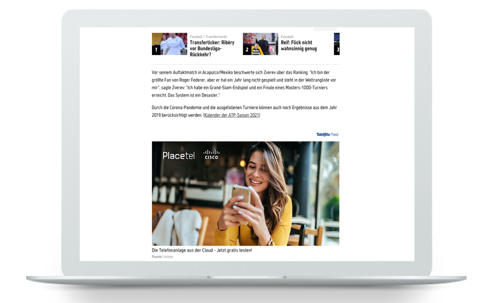 Taboola Video Increases Brand Awareness for Placetel